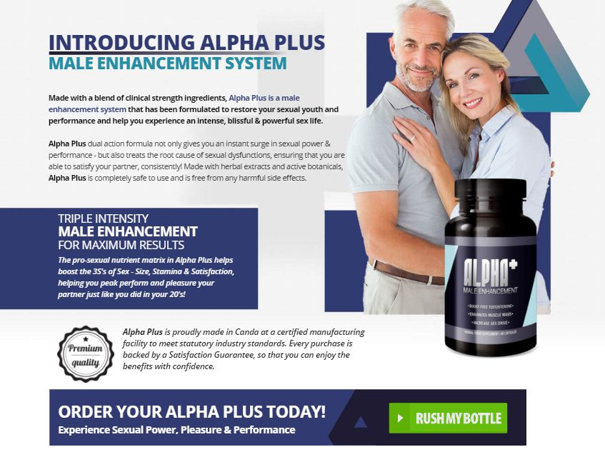 Alpha Plus Male Enhancement South Africa Pills Reviews